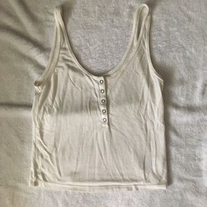 American Eagle cream colored cropped top
